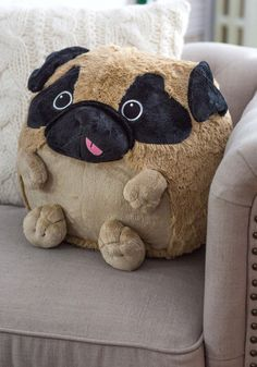 Plush One Pillow in Pug | Mod Retro Vintage Decor Accessories | ModCloth.com