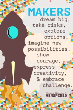 Krissy Vensodale makes the most amazing makerspace posters.    All posters are created under Copyright - Creative Commons, Non-Derivative, Non-Commercial, With Attribution. This means you can download and print for personal use ONLY.  No reselling, recreating, or redesign permitted. Thank you!