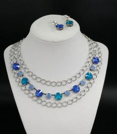 5pc NECKLACE Set Caribbean Waters OPAL CHARMS Can be worn in