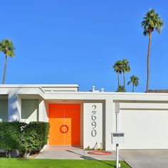 Orange ya glad for Palm Springs doors? // Photo by Fred Moser for Kelly Golightly