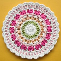 9 #Crochet Mandala Patterns by Marinke #mandalasformarinke