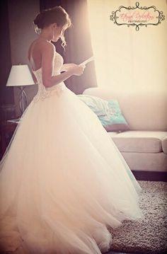 Mooie jurk met tule