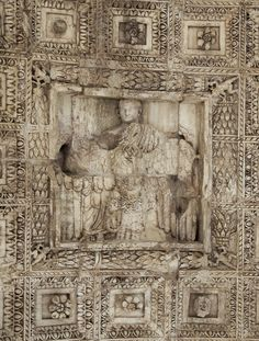 Apotheosis of Titus.  Relief on the vault of the Arch of Titus. 81—96 A.D. Rome, Roman Forum, Arch of Titus.