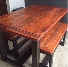 Farmhouse Dining Room Table Facebook: Built for a Purpose  Instagram: @built.for.a.purpose