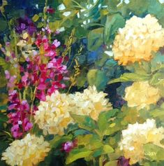 """Daily Paintworks - """"Take a Chance"""" - Original Fine Art for Sale - © Libby Anderson Oil Painting Flowers, Watercolor Flowers, Painting & Drawing, Watercolor Paintings, Oil Paintings, Decoupage, Mediums Of Art, Beautiful Flowers Pictures, Fine Art Auctions"""