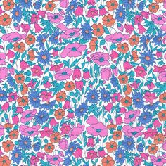 Liberty+Fabric+Poppy+and+Daisy+Pink+Blue+by+Alicecarolinesupply