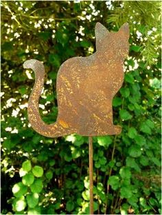 1000 images about edelrost garten katze on pinterest for Rost gartenstecker