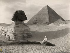 Great Sphinx, Egypt(1921) Photograph by Donald McLeish. National Geographic Society.