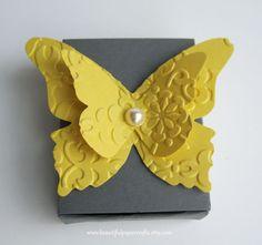 Gray and Yellow Wedding Matchbox Favor by BeautifulPaperCrafts