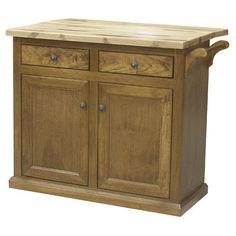 Eagle Furniture Manufacturing Kitchen Cart with Butcher Block Top Base Finish: Caribbean Rum