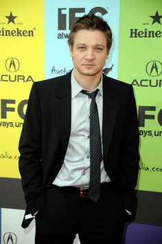 Tie slightly askew as if he just made out with somebody. :-)  Jeremy Renner @ IFC Indie Film Celebration - 2009 - jeremy-renner photo;