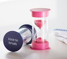 Excellent tips for getting kids to brush their teeth, like these 2 minute timers.