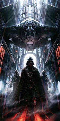 Ideas science fiction world star wars Star Wars Fan Art, Star Wars Concept Art, Star Trek, Darth Vader Star Wars, Star Wars Padme, Darth Maul, Images Star Wars, Star Wars Pictures, Cuadros Star Wars