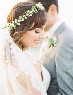 paige + john mark | Laverne Gown by Catherine Deane for BHLDN | via: green wedding shoes