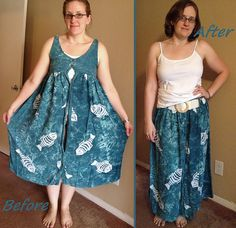 robe > jupe  >Fishy Skirt Before & After by nosmallfeet, via Flickr