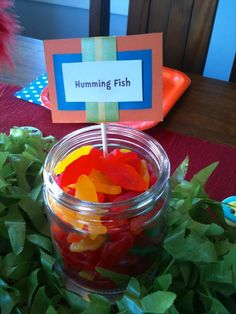 Lorax candy table, Dr. Seuss birthday party!