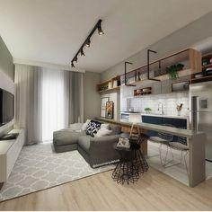 The Best 2019 Interior Design Trends - Interior Design Ideas Home Living Room, Apartment Living, Interior Design Living Room, Living Room Designs, Living Room Decor, Small Space Living, Small Spaces, Contemporary Decor, Small Apartments