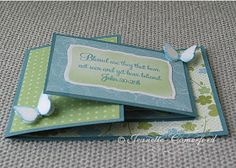 Today I have a Joy Fold Card to show you. I found the tutorial here on Splitcoasters. I used one of the sentiments from Sweet 'n Sassy's new...