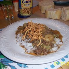 Hamburg Chow Mein Quick and Easy Hamburger Chow Mein Quick and Easy Recipe Hamburger Recipes, Beef Recipes, Cooking Recipes, Healthy Food List, Healthy Recipes, Quick Recipes, Beef Chow Mein, Chop Suey, Kitchens