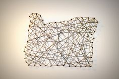 OREGON Medium: Wire Wall Art of the state of Oregon by UCraftMeUp