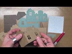 Basic house construction   Tim Holtz Sizzix Village Dwelling... - YouTube