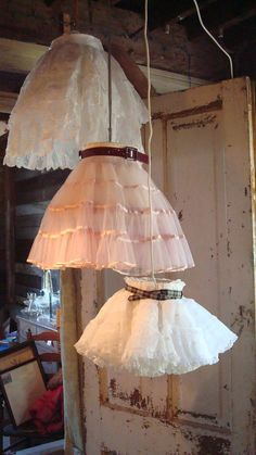 CHANDELIER, upcycled, frilly, flirty flouncy,  eco wedding, shabby chic.