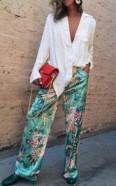 Street Style Palazzo pants
