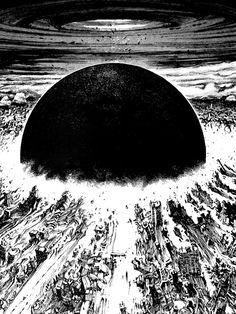 """""""Akira cyberpunk city explosion"""" T-shirt by zerplin Manga Drawing, Manga Art, Manga Anime, Anime Art, Cyberpunk City, Arte Cyberpunk, Explosion Drawing, Akira Anime, Arte Obscura"""