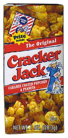 Cracker Jack is an old time favorite nostalgic candy. A yummy treat of caramel coated popcorn and peanuts complete with a prize in every box. Cracker Jack has been a favorite treat for over 100 years and is still as good today as way back when.