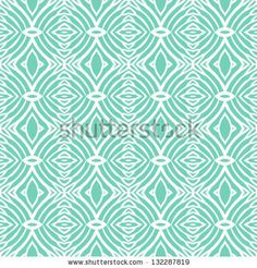 Simple, elegant linear seamless vector pattern in tropical aqua blue. Texture for web and print, spring fashion fabric or textile, background for wedding invitation or presentation slide - stock vector