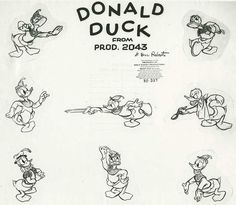 """Early Disney; The creation of Donald Duck owes much to the career development of Clarence Nash, then """"seller milk"""" (advertising presenter) for Adohr Milk Company. In December 1933, Clarence Nash signed a contract with Disney to make the voice of a character will be created. Nash gave his voice in the original version Duck from 1934 to 1983, he was involved in character creation & early stages of Donald."""