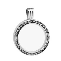 Necklaces Pendants Choker Big Forever Floating Locket Pendant with Clear CZ DIY Sterling Silver Jewelry Silver. Click visit to buy #FineJewelryPendant #Jewelry #Pendant