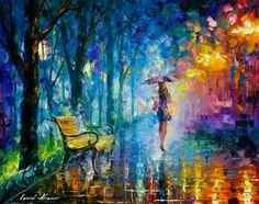 Misty Umbrella ~ Leonid Afremov