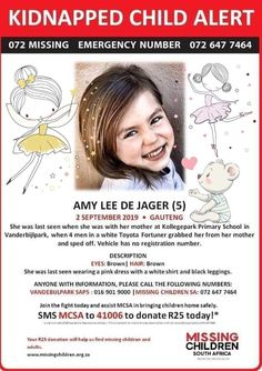 #FindAmyLee #SouthAfrica The kidnappers want a R2M ransom! Please #pray 🙏🕊️🌹