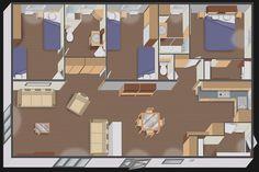 Implantation nautil DUO 96 3 Chambres + 2 salles de bain + dressing