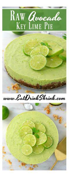 Raw Avocado Key Lime Pie