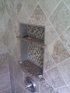 Niches - Page 11 - Ceramic Tile Advice Forums - John Bridge Ceramic Tile Accent Tile Bathroom, Shower Niche, Showers, Tile Floor, Bridge, Sink, Advice, Inspiration, Home Decor