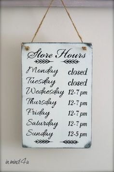 Business Hours Sign Custom Sign Store Hours Sign by Clothing Boutique Interior, Boutique Interior Design, Boutique Decor, A Boutique, Boutique Ideas, Vintage Boutique, Business Hours Sign, Salon Business, Business Signs