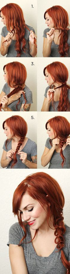 Simple Messy Knotted Braid -- Fabulous Hairstyle Tutorials For Diva Like You