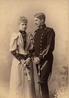 Their Royal Highnesses Crown Prince Ferdinand and Crown Princess Marie of Romania. Married: January 10, 1893