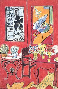 """RED INTERIOR"", 1948. """