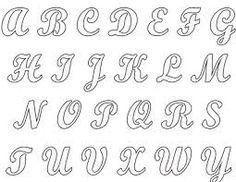 Molde De Letras Cursivas Pesquisa Google Letras Pinterest