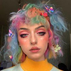 Cute Makeup, Makeup Looks, Hair Makeup, Crazy Makeup, Pretty Makeup, Makeup Art, 50s Makeup, Indie Makeup, Makeup Style