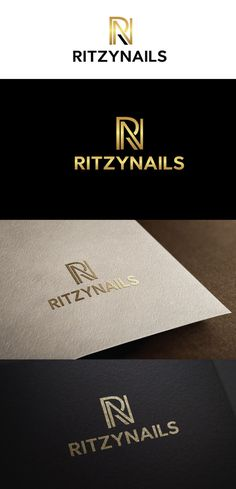 RitzyNails.com Elegant, Serious Logo Design by ecorokerz