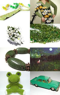 Green accessories and jewelry gifts