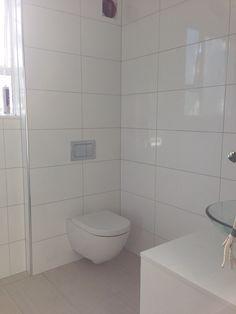 Toilet - Sfera 54 wall hung toilet; Flush plate - Progetto speedo chrome