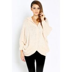 http://www.salediem.com/shop-by-size/small/button-clasps-closure-comfy-sweater-with-hood-detail.html #salediem #fallsweater