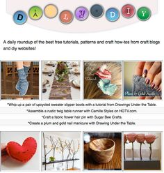 diy craft tutorials crafts blogs websites gifts handmade gift guide daily patterns thing pretty