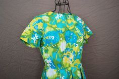 vintage 50s Dress  Bright Watercolor Floral Garden by jessamity, $42.00