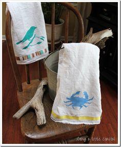 stencil on towels
